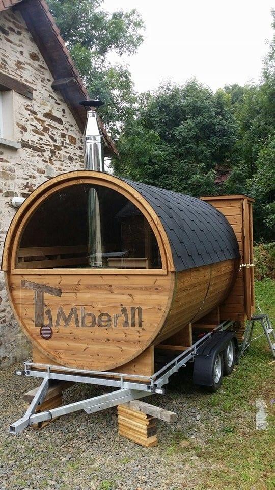 Outdoor Barrel Round Sauna, Julien, Limousin, France (1)