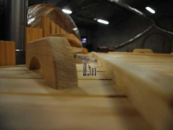 Montage der Holzdecke 2