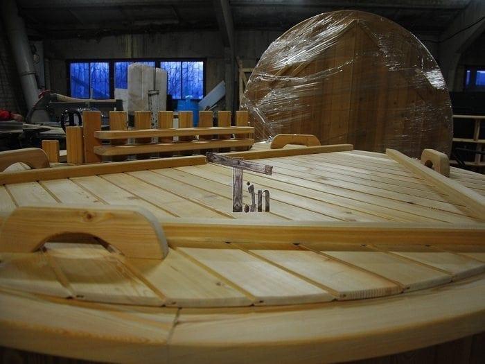 Montage der Holzdecke 4