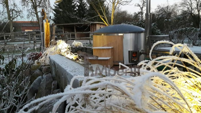 Badefass Gfk Eiche Mit Integrierter Ofen Wellness Royal, Björn Dangers, Gilten, Deutschland (1)