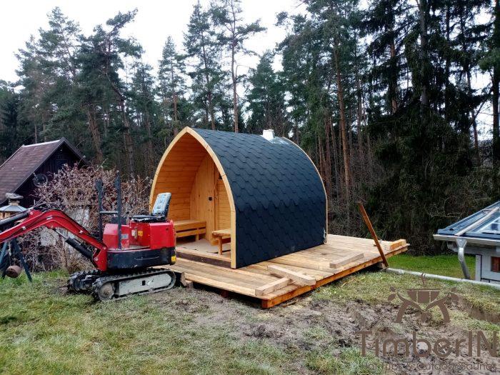 Außensauna Gartensauna Iglu Pod Mit Holzofen Elektrisch, Ramona, Netzschkau, Deutschland