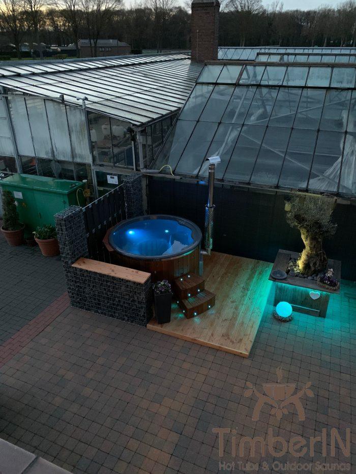 Badezuber Badefass Hot Tube Mit Whirlpool Holzofen TimberIN Rojal, Annemie, Straelen, Deutschland (3)